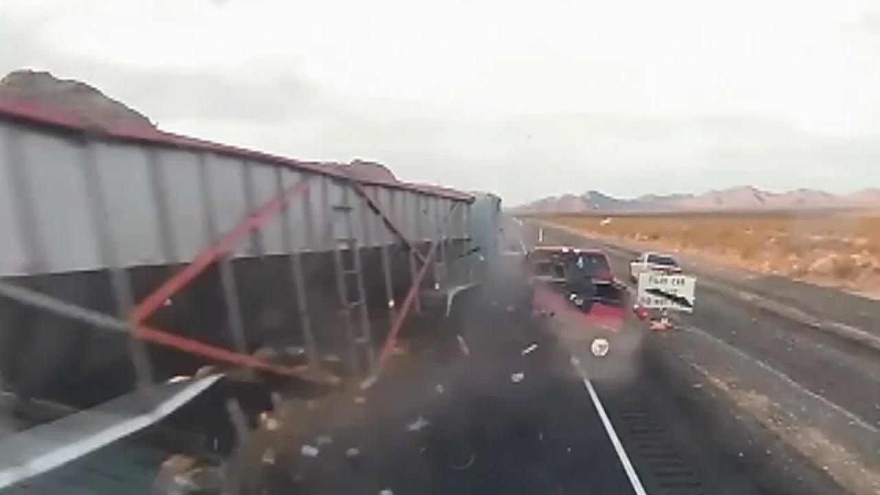 video released of deadly semi-truck crash in nevada that killed 2
