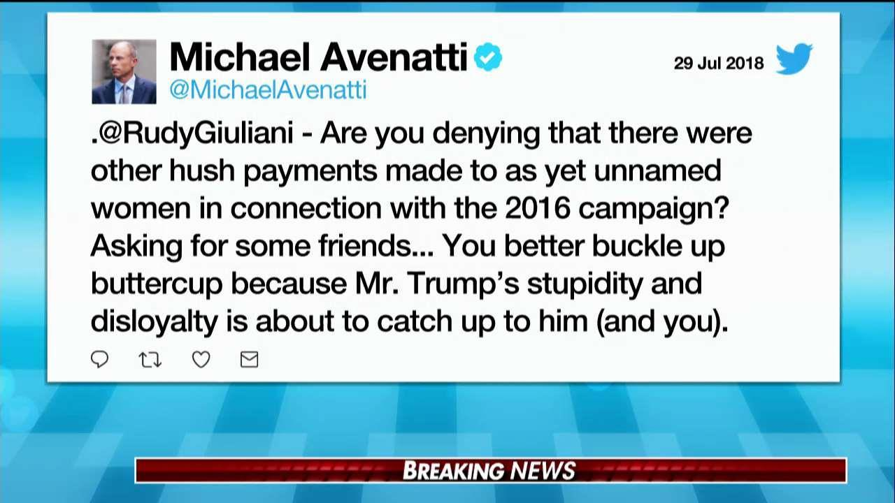 Avenatti Tweets at Giuliani