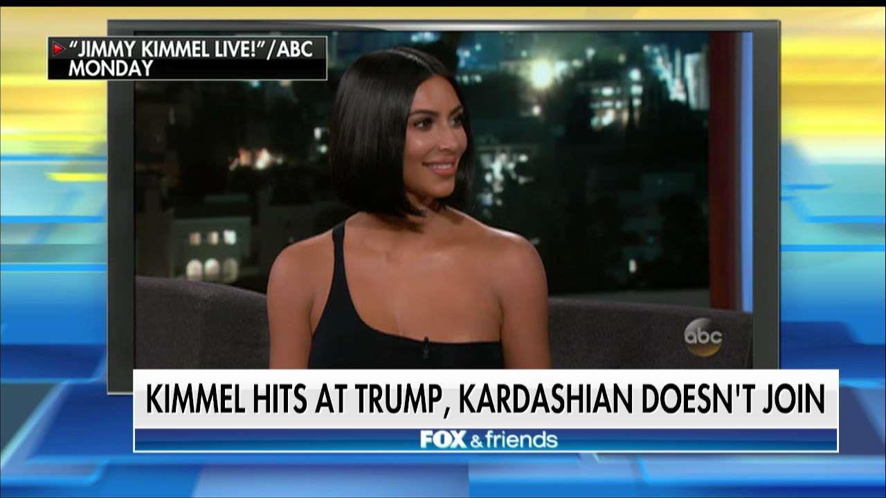 Kim Kardashian Does Not Join in Kimmel's Trump-Bashing