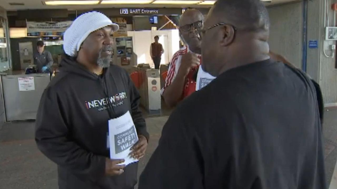 Men volunteer to provide security for BART passengers
