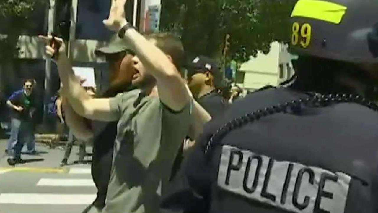 At least 20 arrested in Berkeley political protests