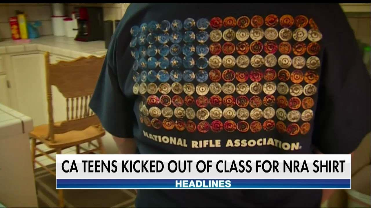California High School Student Booted From Class for Wearing NRA T-Shirt
