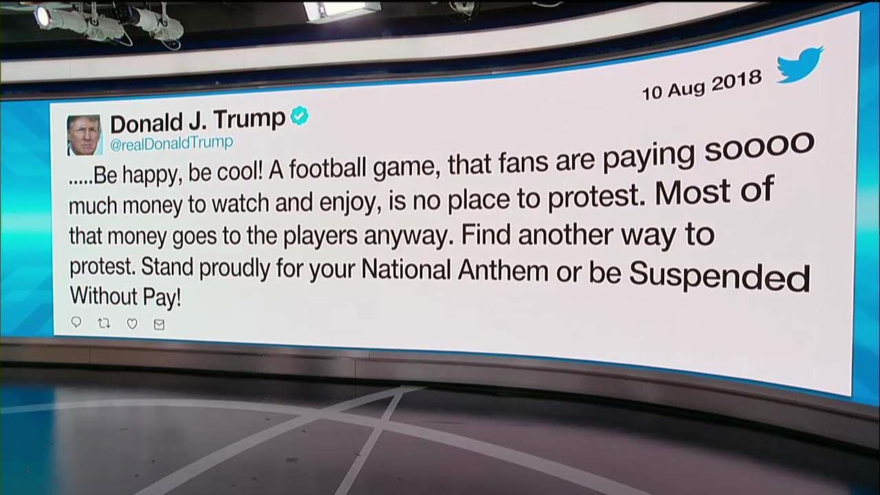 Trump Takes Shot at NFL Players Over National Anthem Protests
