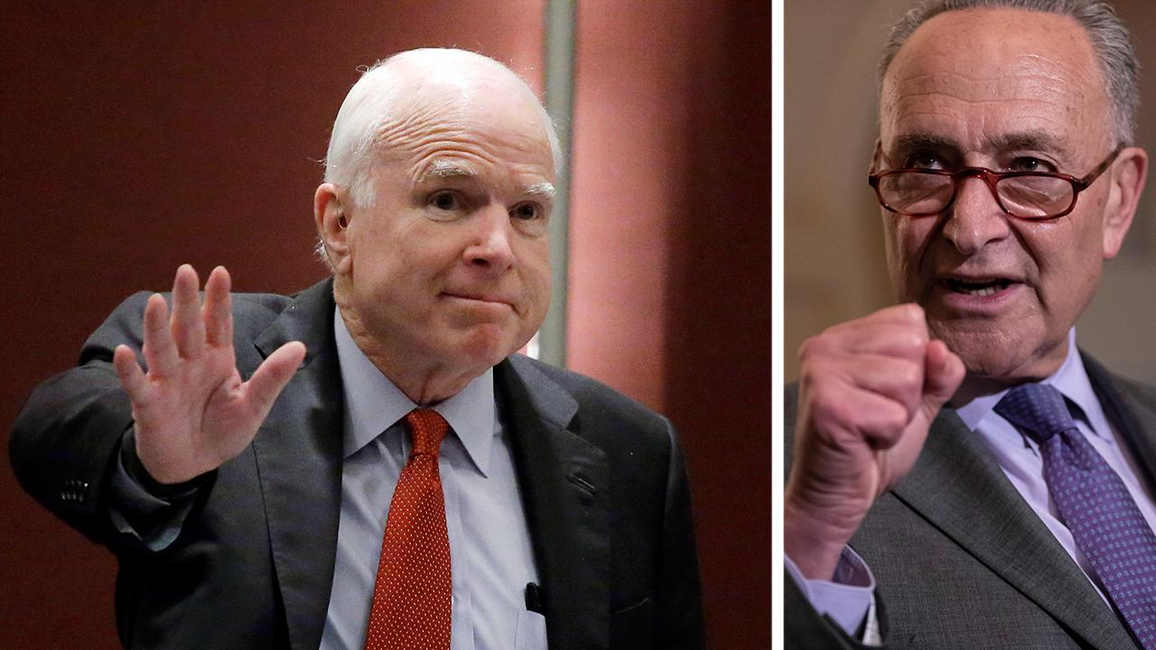 Schumer wants to rename Senate building after John McCain
