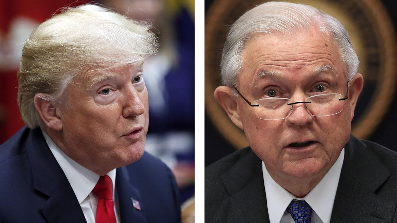 Trump says Sessions is safe for now