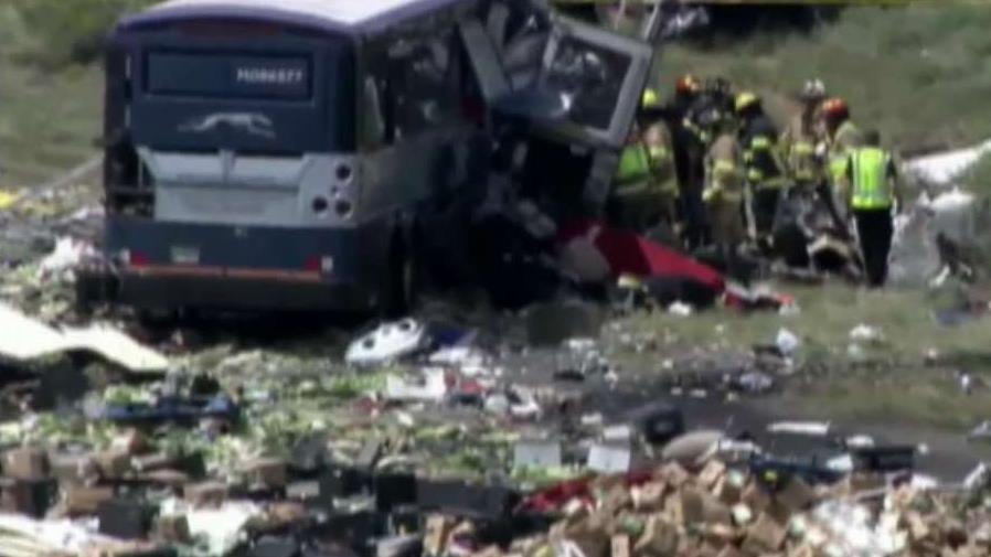 Blown tire may be cause of head-on crash that left at least 8 dead in New Mexico, officials say