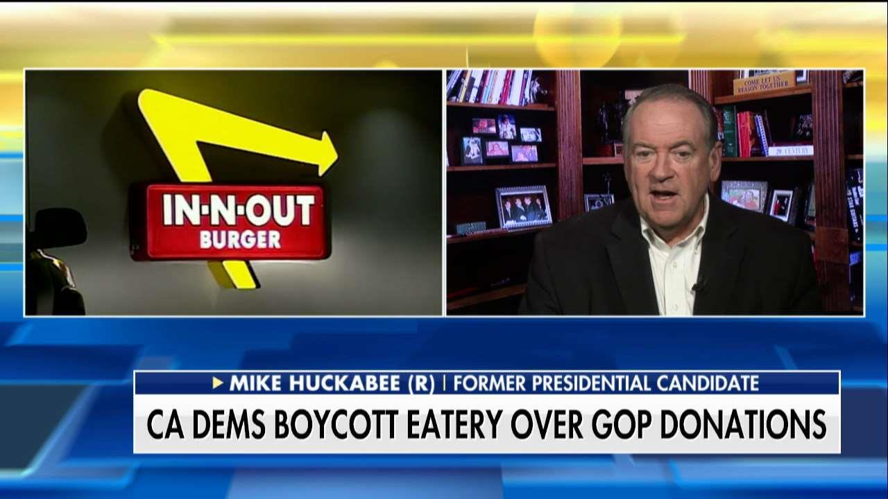 Start a 'Buy-Cott': Huckabee Blasts Boycott of In-N-Out Over GOP Donation