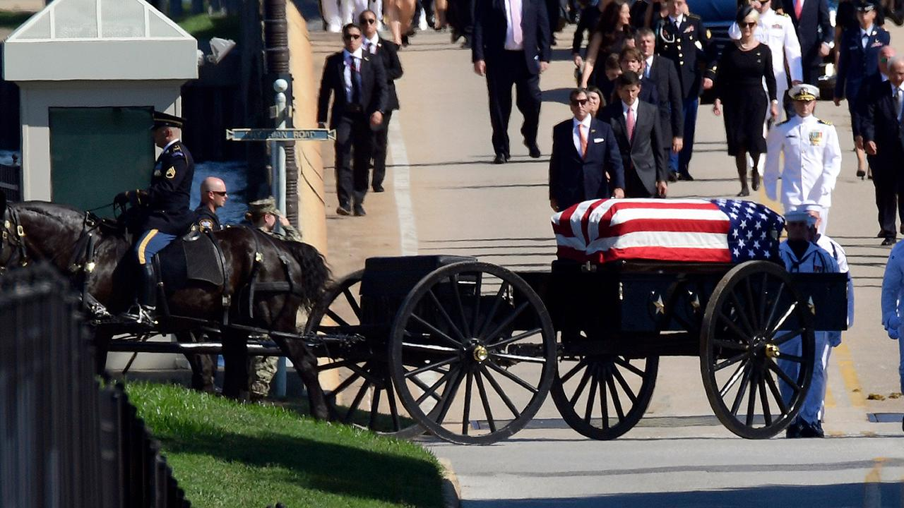 John McCain buried at Naval Academy next to lifelong friend