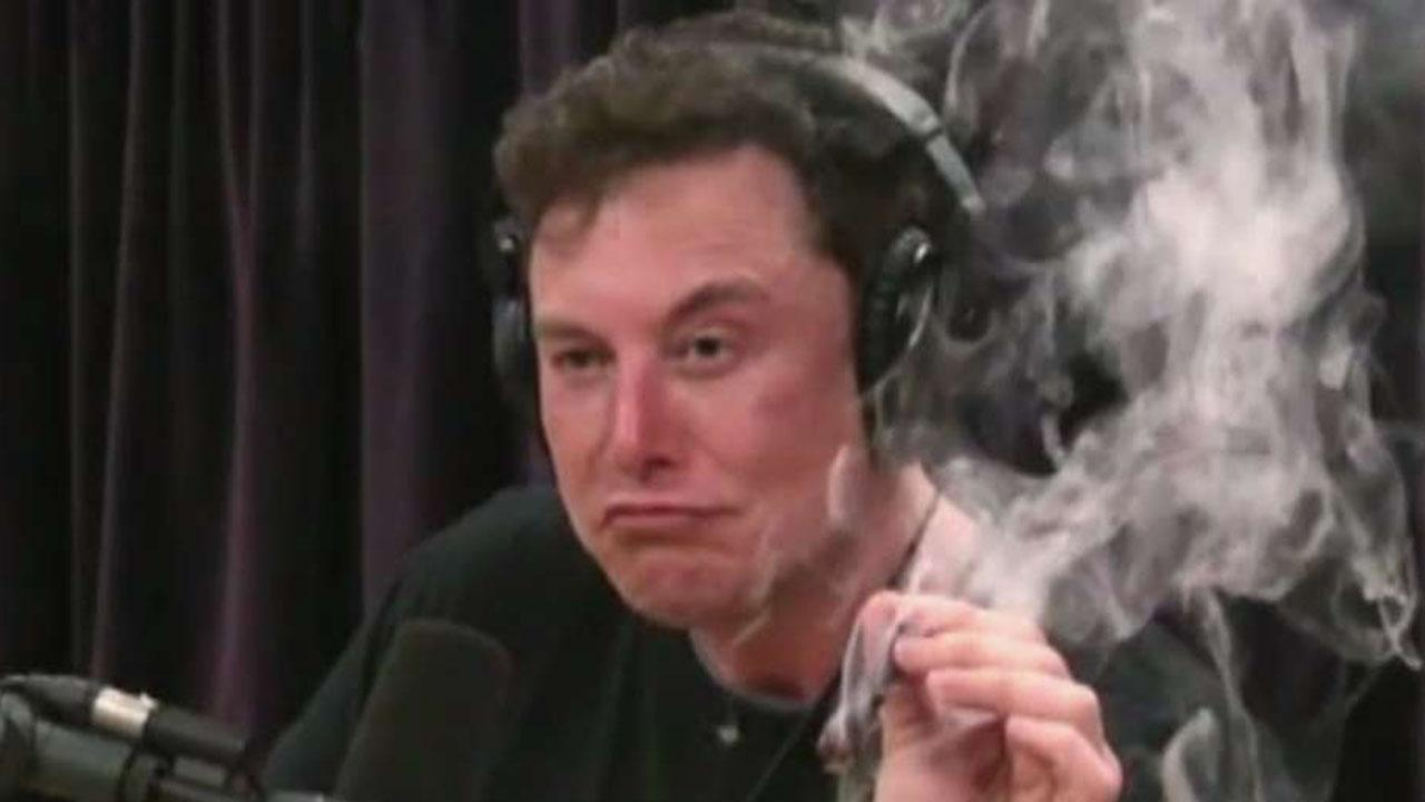 Tesla shares fall after Elon Musk smokes with Joe Rogan