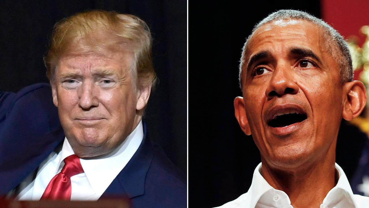 Trump and Obama hit the campaign trail