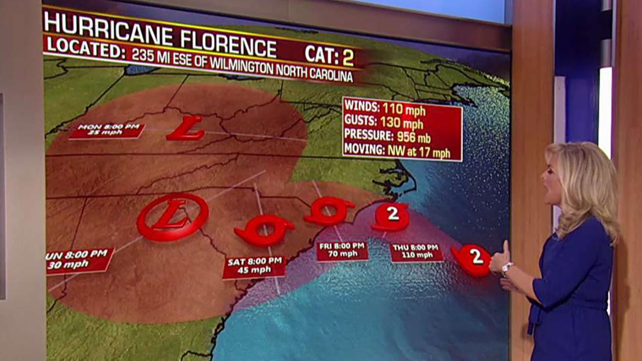 Epic storm surge predicted for Florence landfall