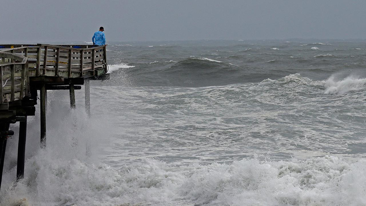 Winds picking up in North Carolina ahead of Florence