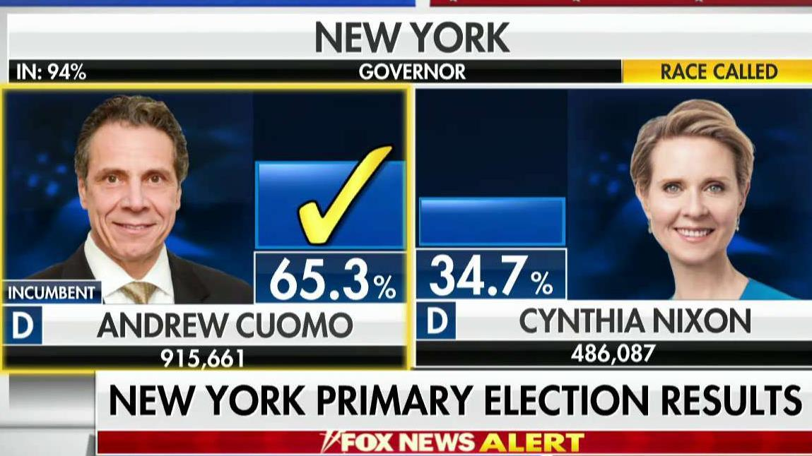 Governor Andrew Cuomo wins New York primary race