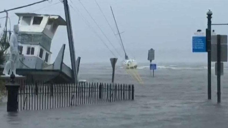 New Bern, North Carolina mayor describes storm surge damage