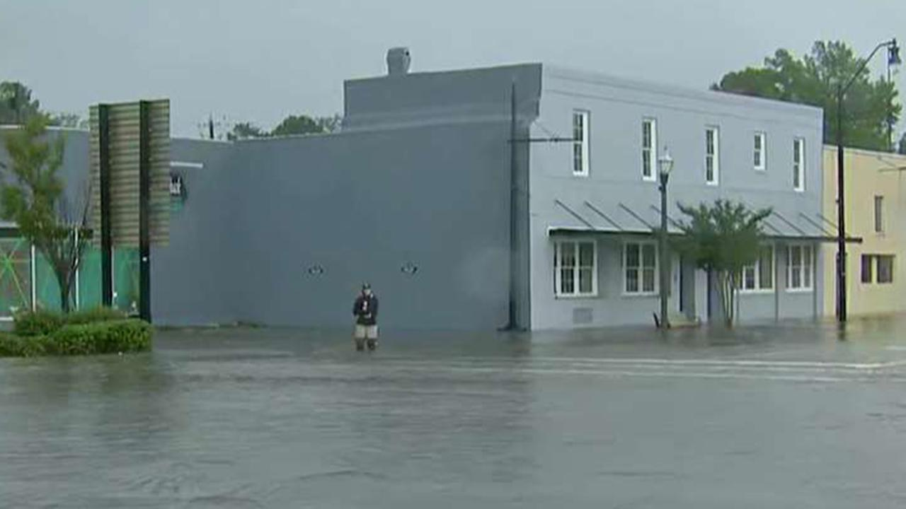 Water rescues under way in South Carolina after Florence