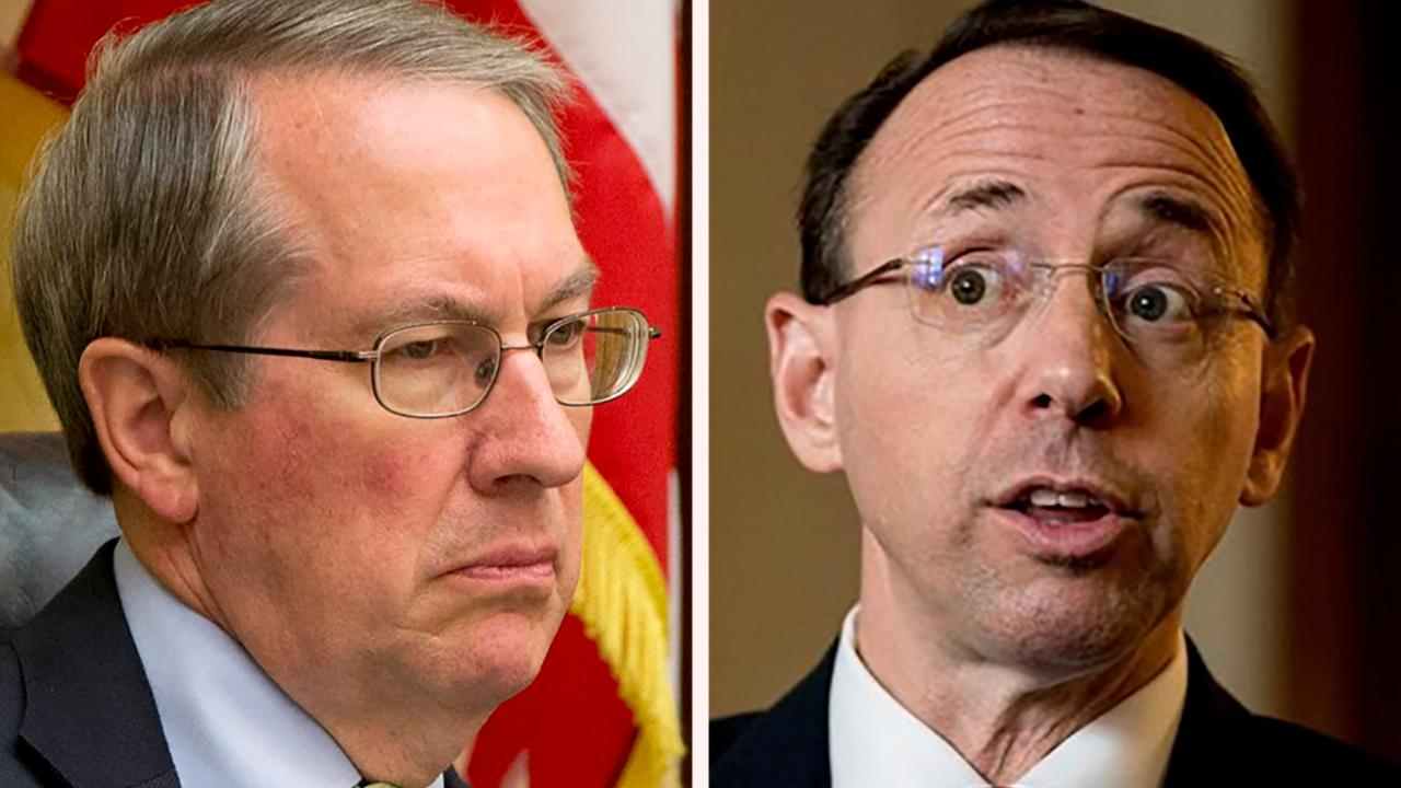Rep. Bob Goodlatte on Rosenstein, fate of FISA documents