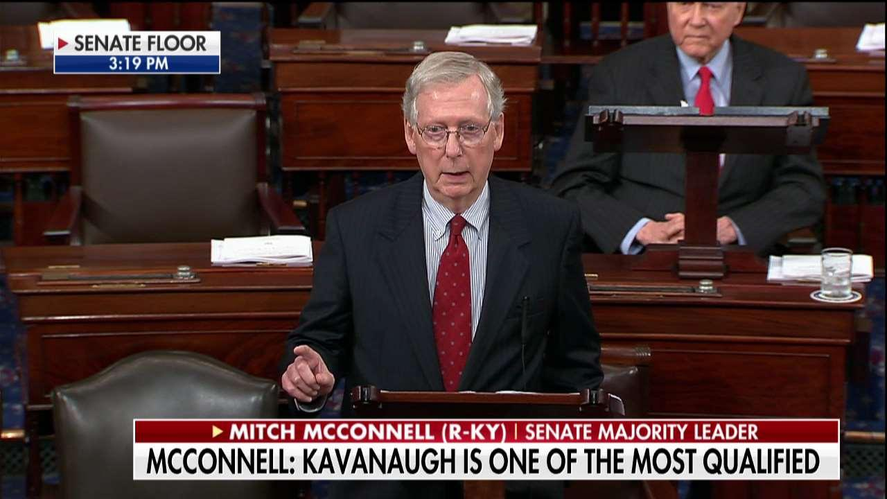 McConnell Slams Democrats on Kavanaugh 'Smears'