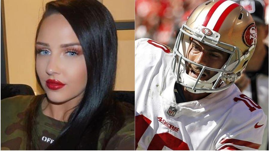 NFL star Jimmy Garoppolo's rumored ex has one-word response about QB's season-ending injury