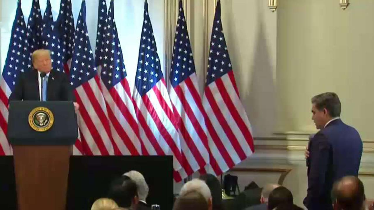 Acosta tries to tell Trump how to conduct press conference