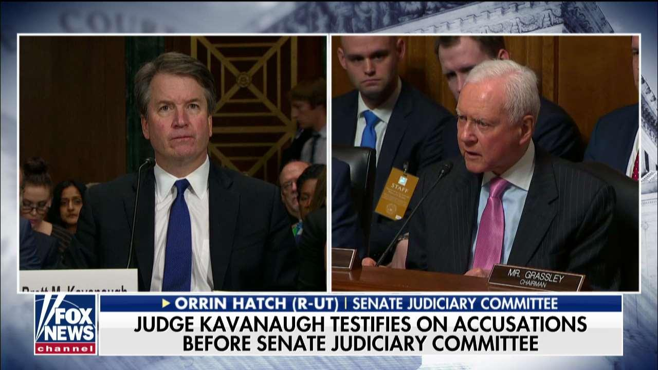 Orrin Hatch Blasts Confirmation Hearing for Kavanaugh