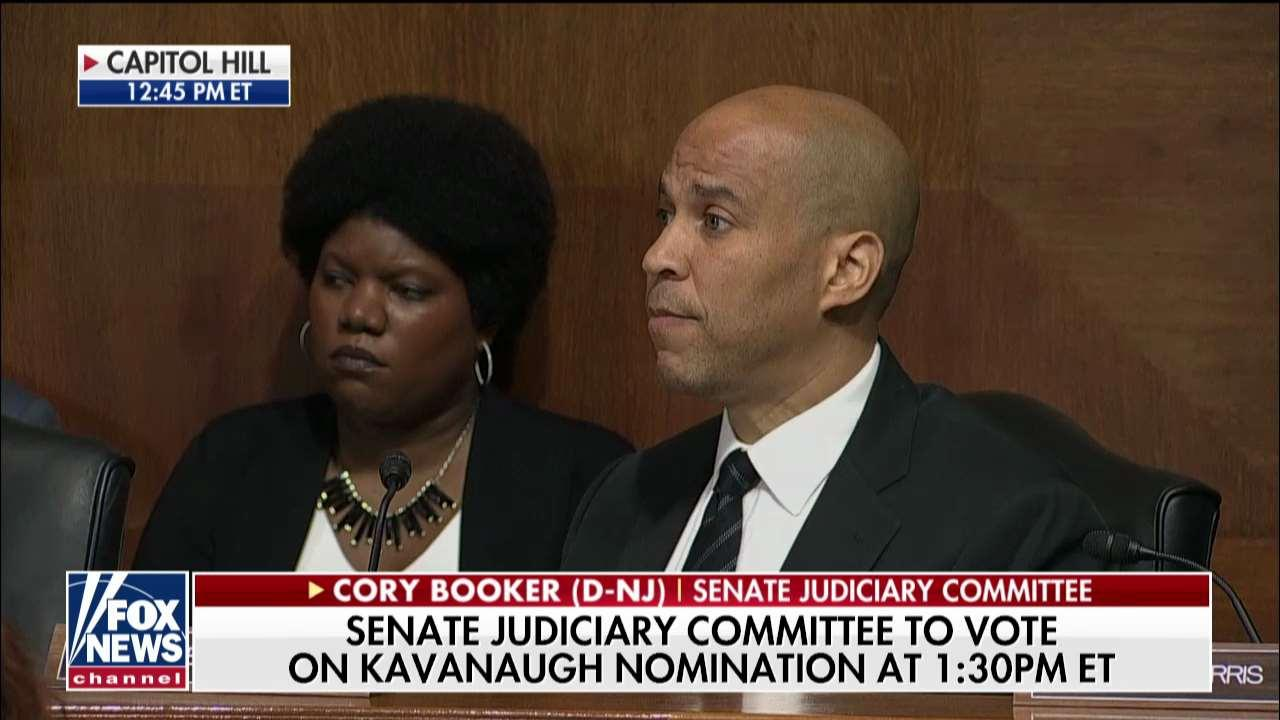 WATCH: Cory Booker Exits Kavanaugh Hearing, Claims 'Dark Moment' in American History