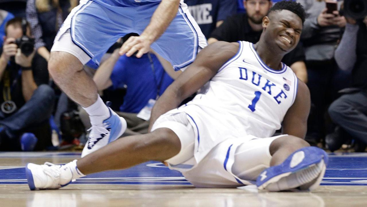 Nike is 'working to identify the issue' after Duke freshman Zion Williamson had his shoe burst apart mid-game against rival North Carolina.