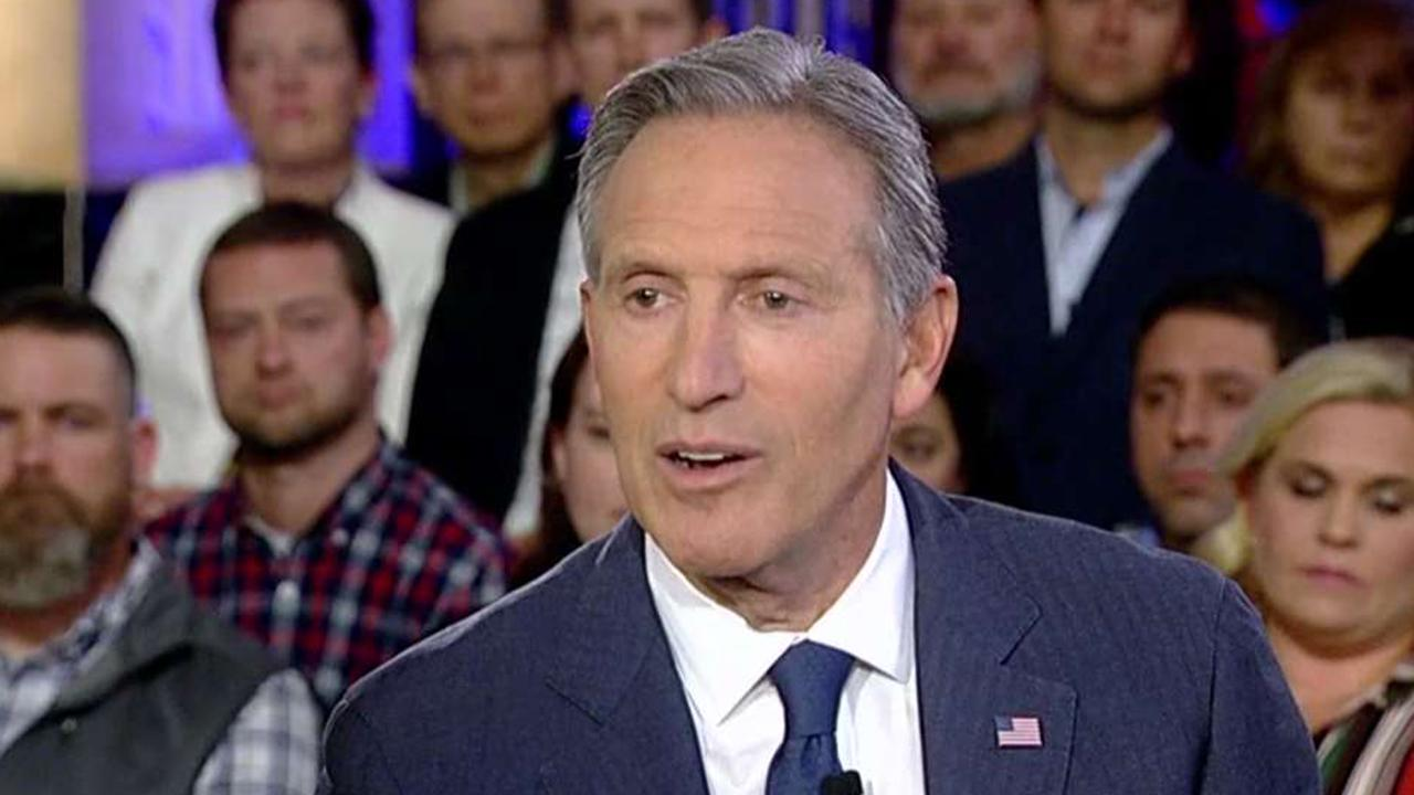 Former Starbucks CEO Howard Schultz discusses how his experience running Starbucks will translate to running the country and women in politics with moderators Bret Baier and Martha MacCallum.