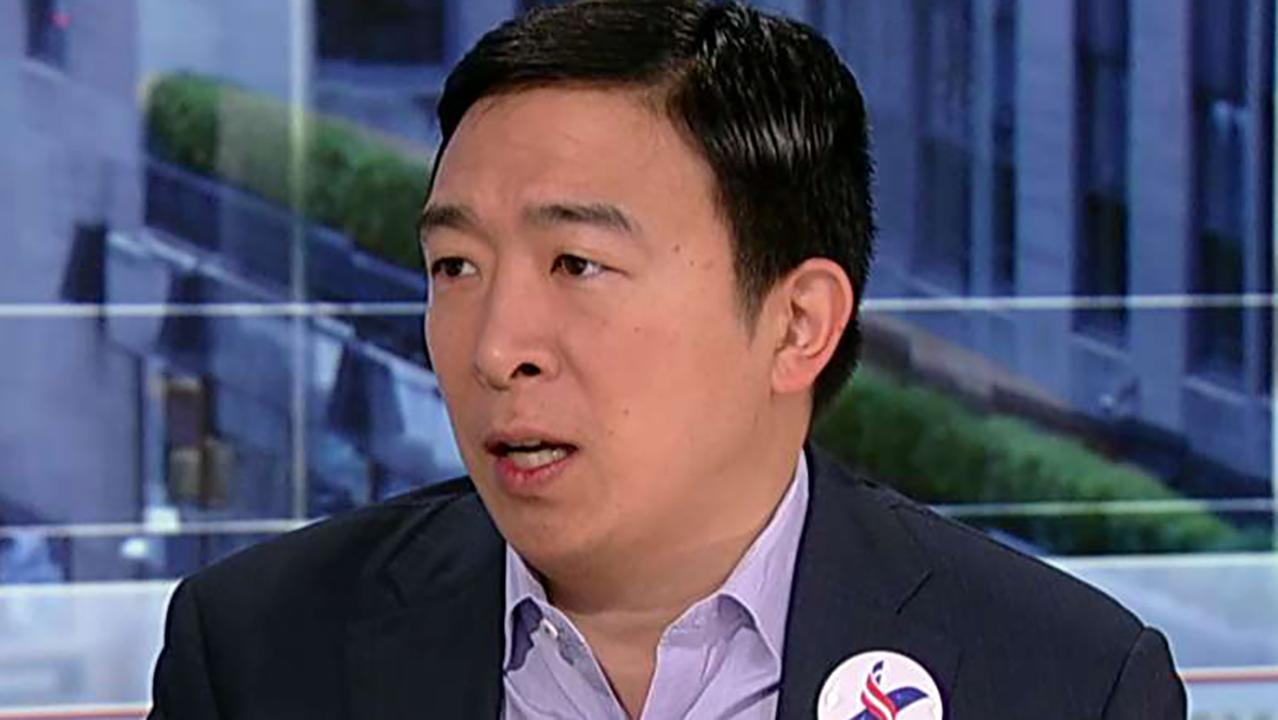 Democratic presidential candidate Andrew Yang makes the case for his plan to give Americans $1,000 a month.