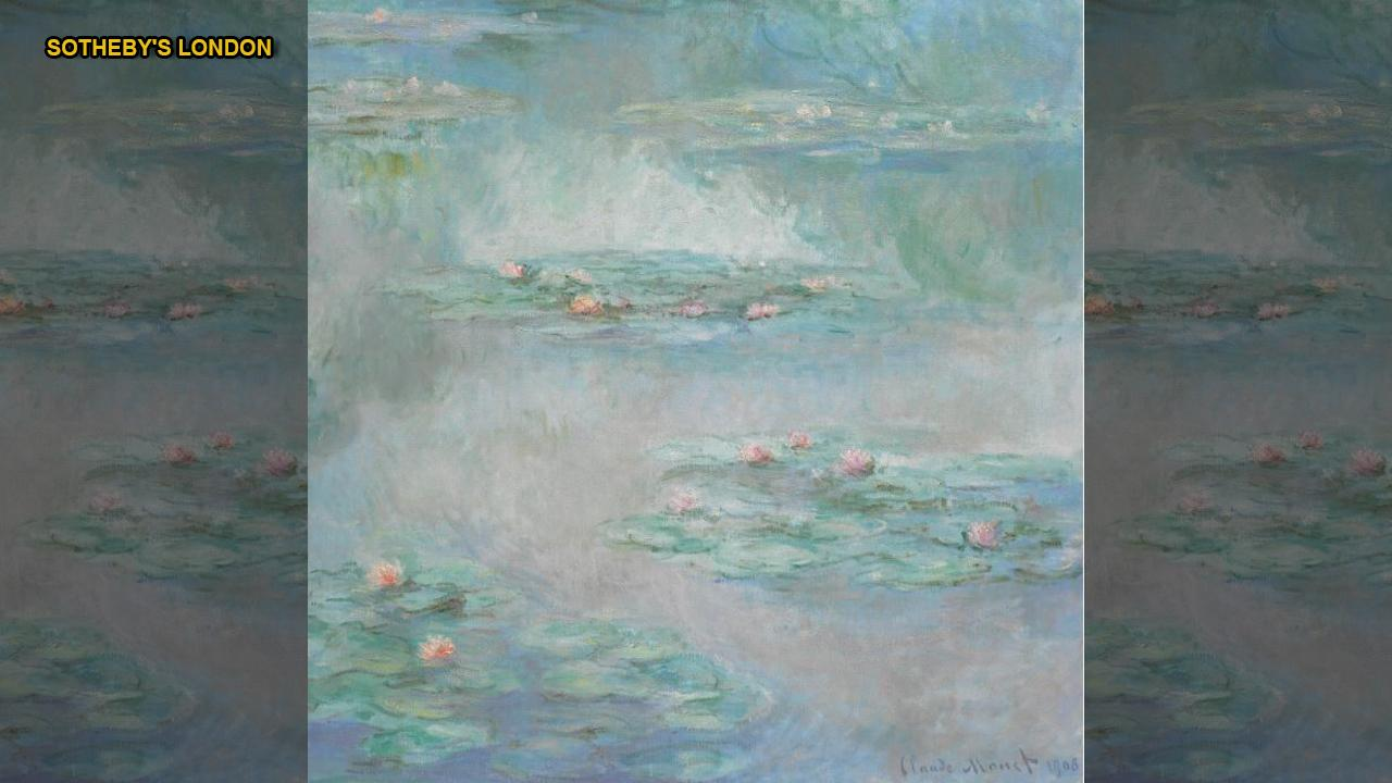 French Impressionist Claude Monet's masterpieces are no strangers to record-breaking bids when they go up for auction. Now a beautiful painting of waterlilies, part of Monet's 'Nymphéas' collection, which has been in a private collection for 87 years, is expected to fetch up to $44.6 million when it hits the auction block next week. This comes one week after his 'Meules' painting sold for $110.7 million at Sotheby's New York.