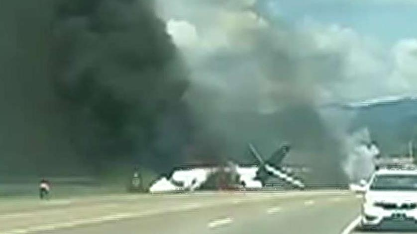 NASCAR's Dale Earnhardt Jr., his family and two pilots walk away from a runway crash in Elizabethton, Tennessee; Steve Harrigan reports from Elizabethton Municipal Airport.