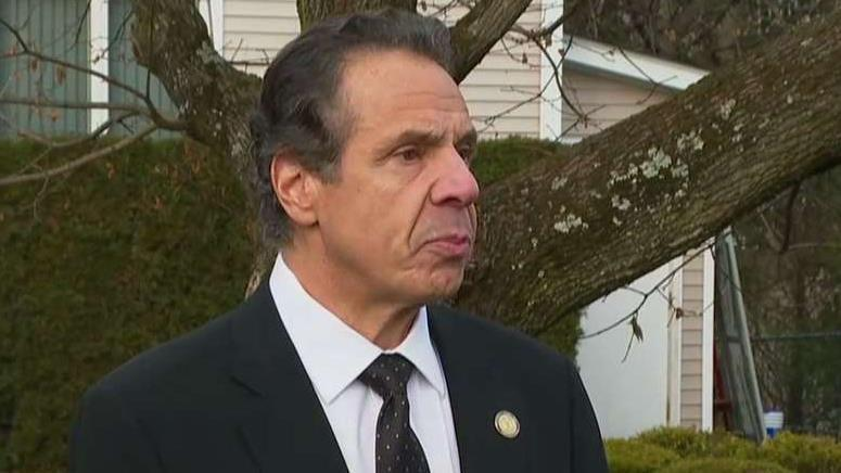 New York Gov. Andrew Cuomo holds a press conference on the mass stabbing attack at the Rabbi's home.