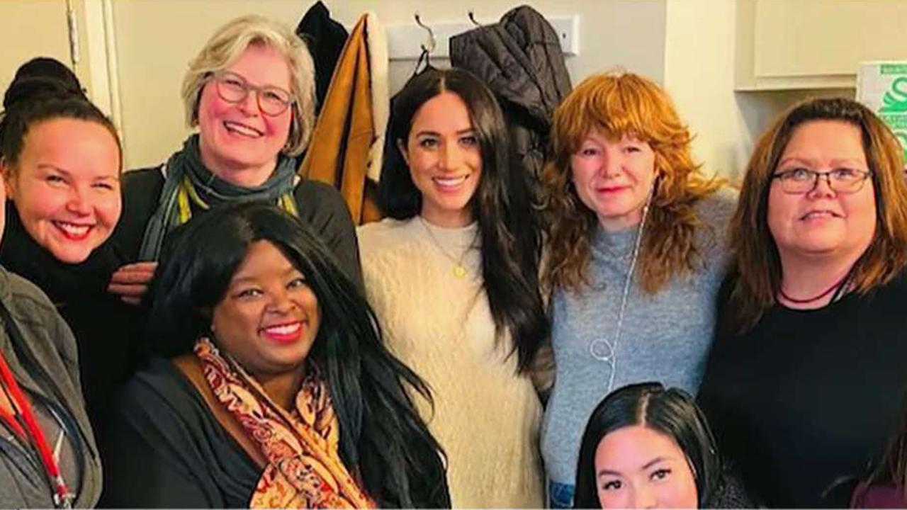 Duchess of Sussex Meghan Markle visits a women's shelter in Canada as speculation continues in the U.K. over the couple's relationship with the queen.