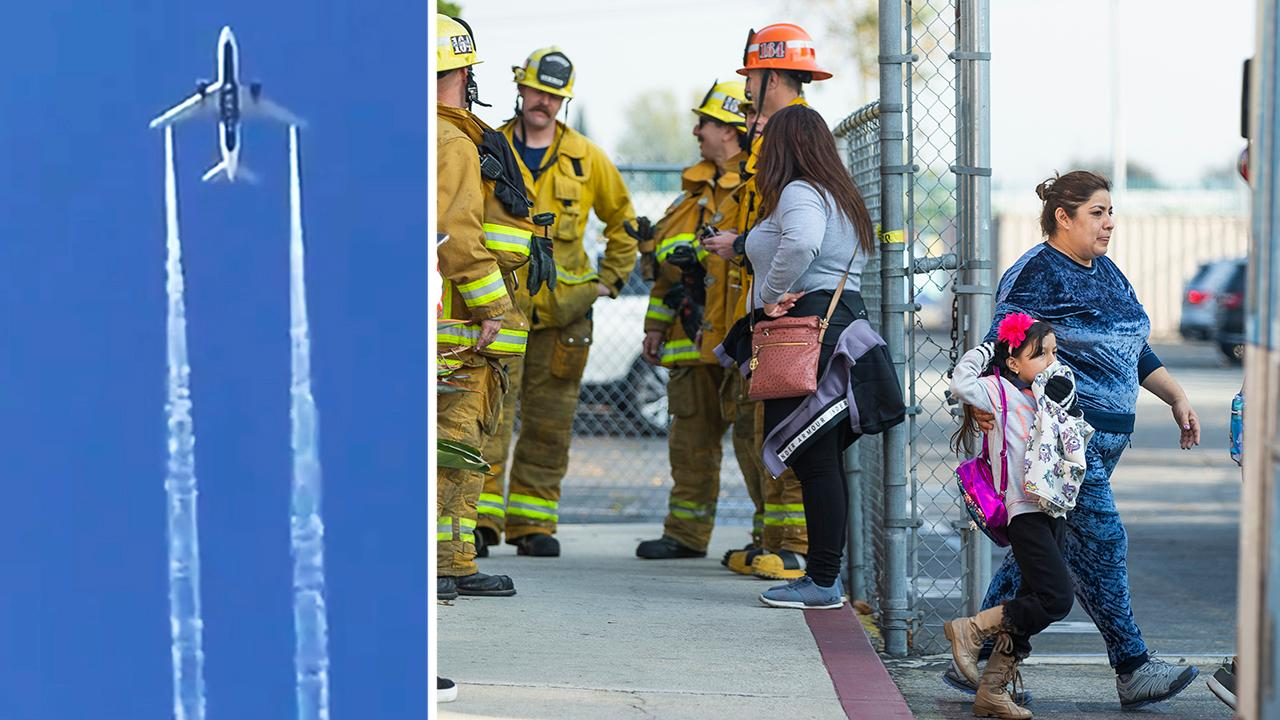School children in Los Angeles speak out after the scary incident; Jonathan Hunt reports on what happened.