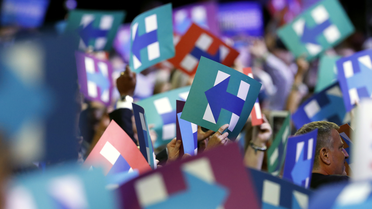 Hillary Clinton wins nomination by acclamation