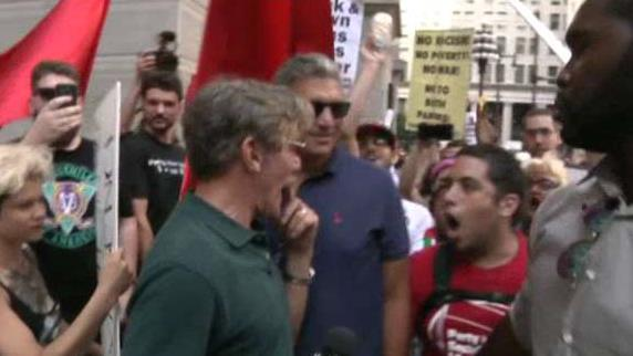 Geraldo Rivera confronted by Black Lives Matter protestors