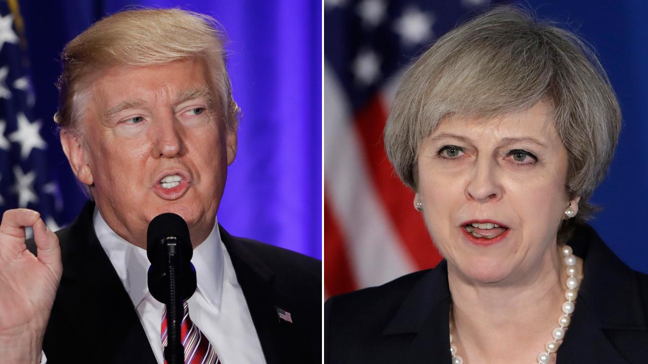 Likening Donald Trump and Theresa May to Reagan and Thatcher