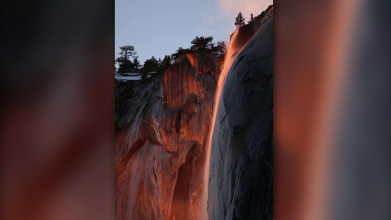 'Firefall' makes glowing return to Yosemite National Park, visitors say recent snow leaves conditions 'unsafe'