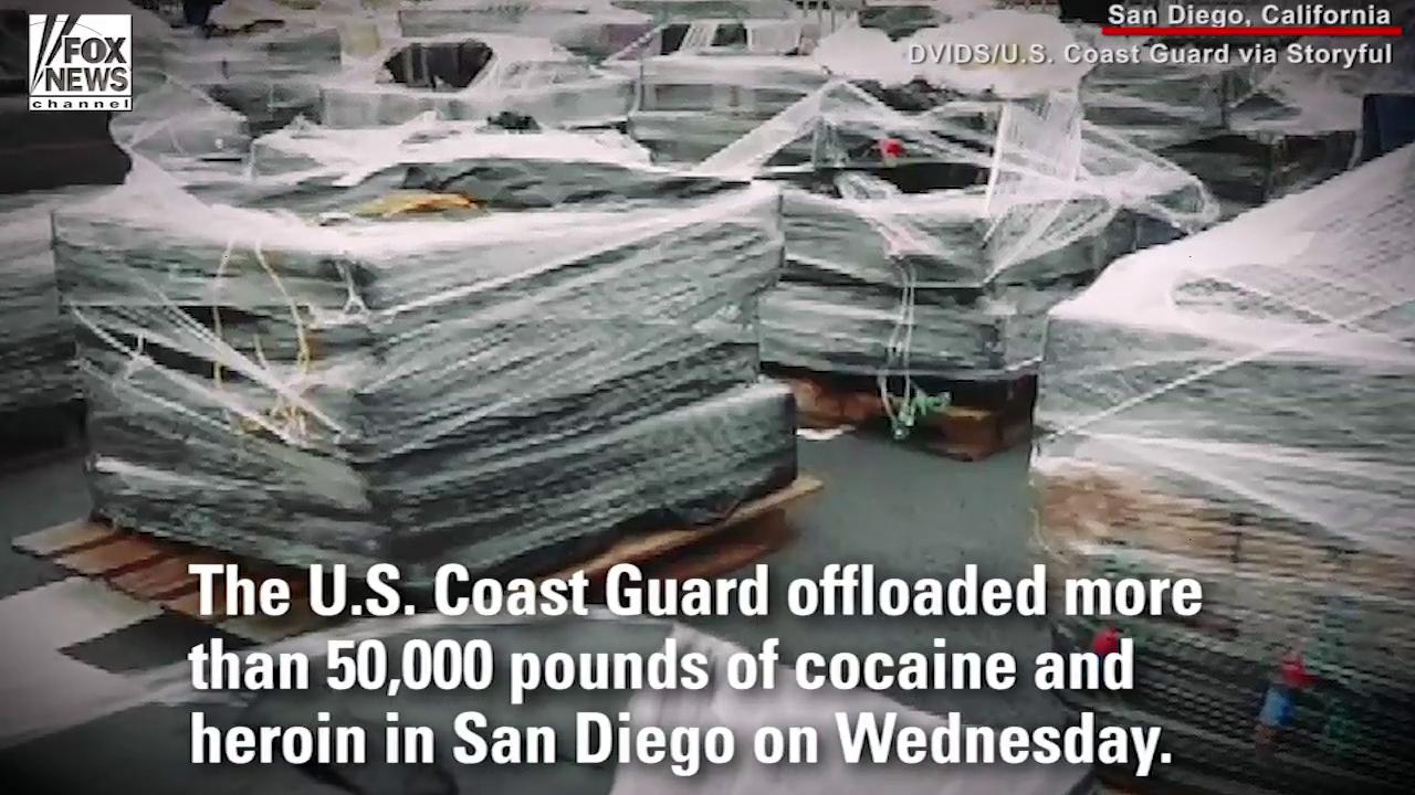 US Coast Guard seizes 50,000 pounds of cocaine, heroin