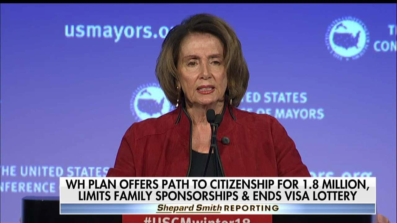 Pelosi Calls Trump's Immigration Proposal a 'Campaign to Make America White Again'