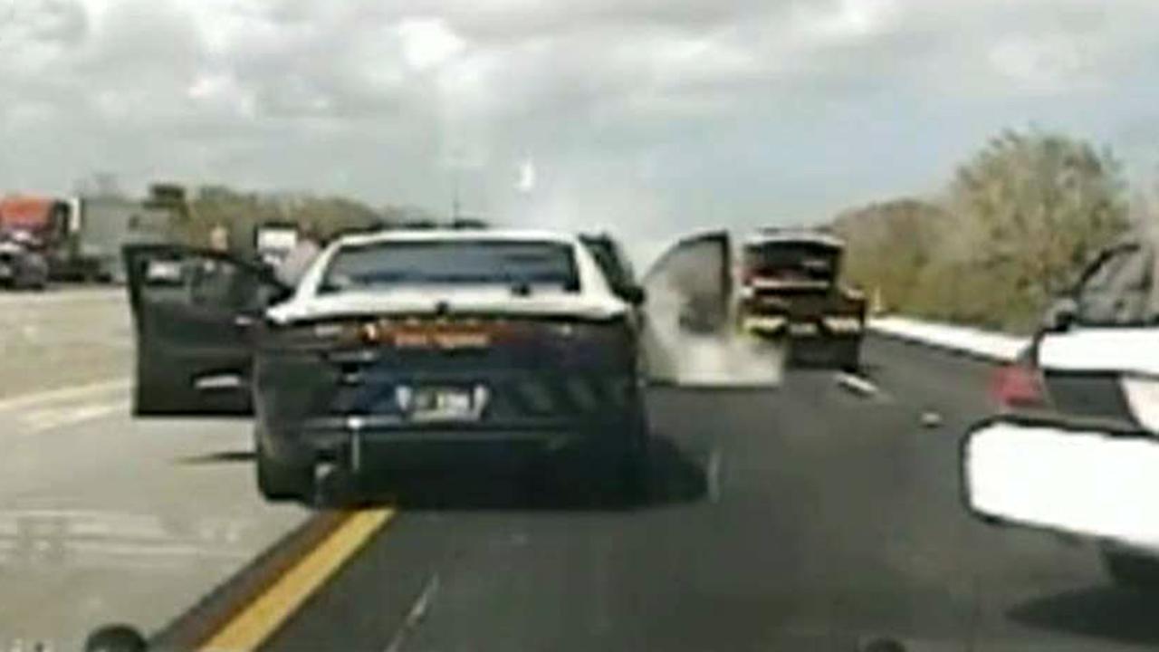 Gas pedal stuck 911 call