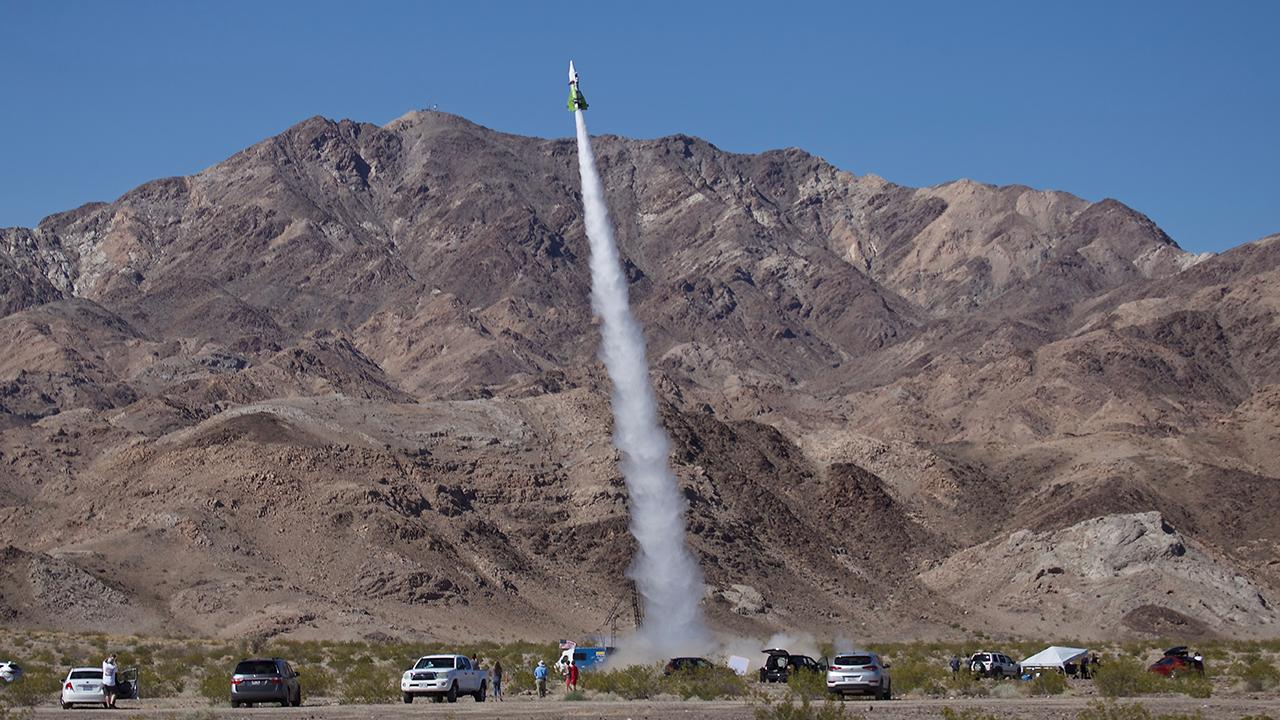 Self-taught rocket-maker shoots himself 1,875 feet into air