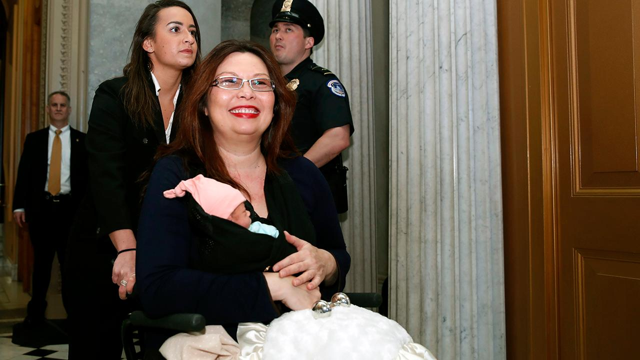 Tammy Duckworth becomes first senator to vote with a newborn