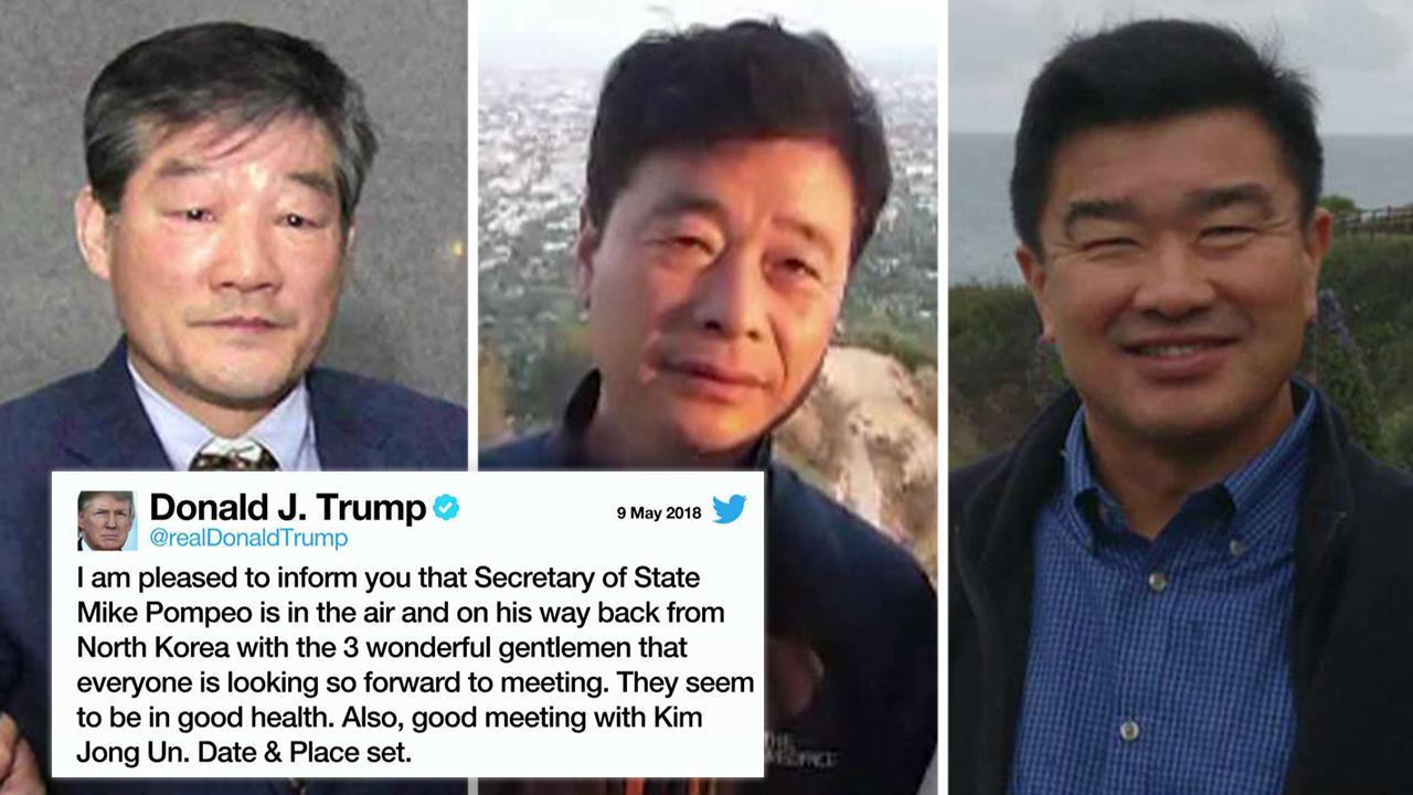 President Trump: North Korea releases 3 US detainees