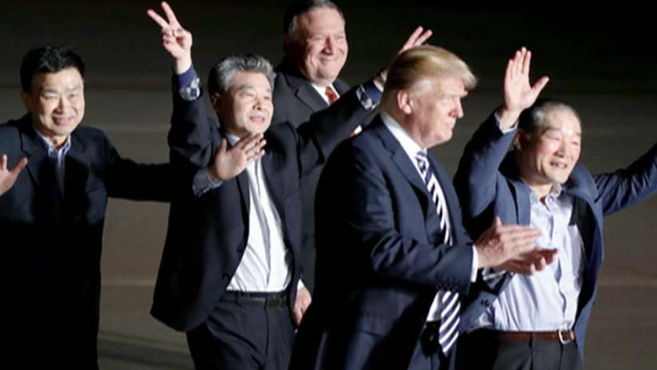 Freed hostages thank Trump for release