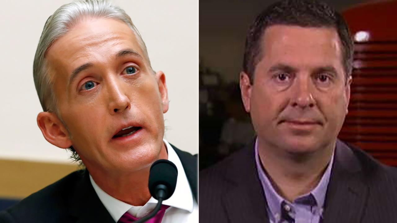 Former House Oversight Chairman Trey Gowdy faces backlash from fellow Republicans for defending the FBI's use of an informant in the 2016 Trump campaign; reaction from House Intelligence Committee Chairman Devin Nunes.