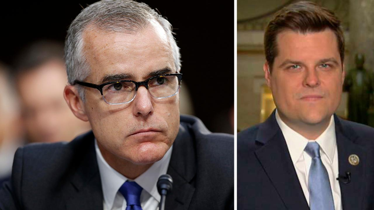 Rep. Gaetz: McCabe might be Loch Ness Monster of the Swamp