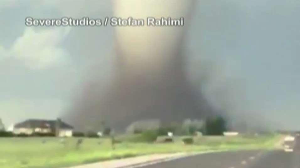 Close up video of intense Wyoming tornado