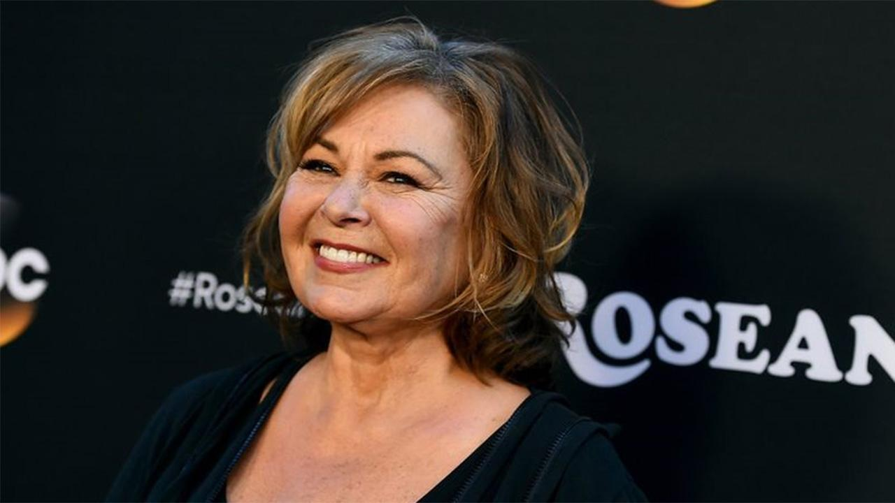 Roseanne Barr breaks down during interview