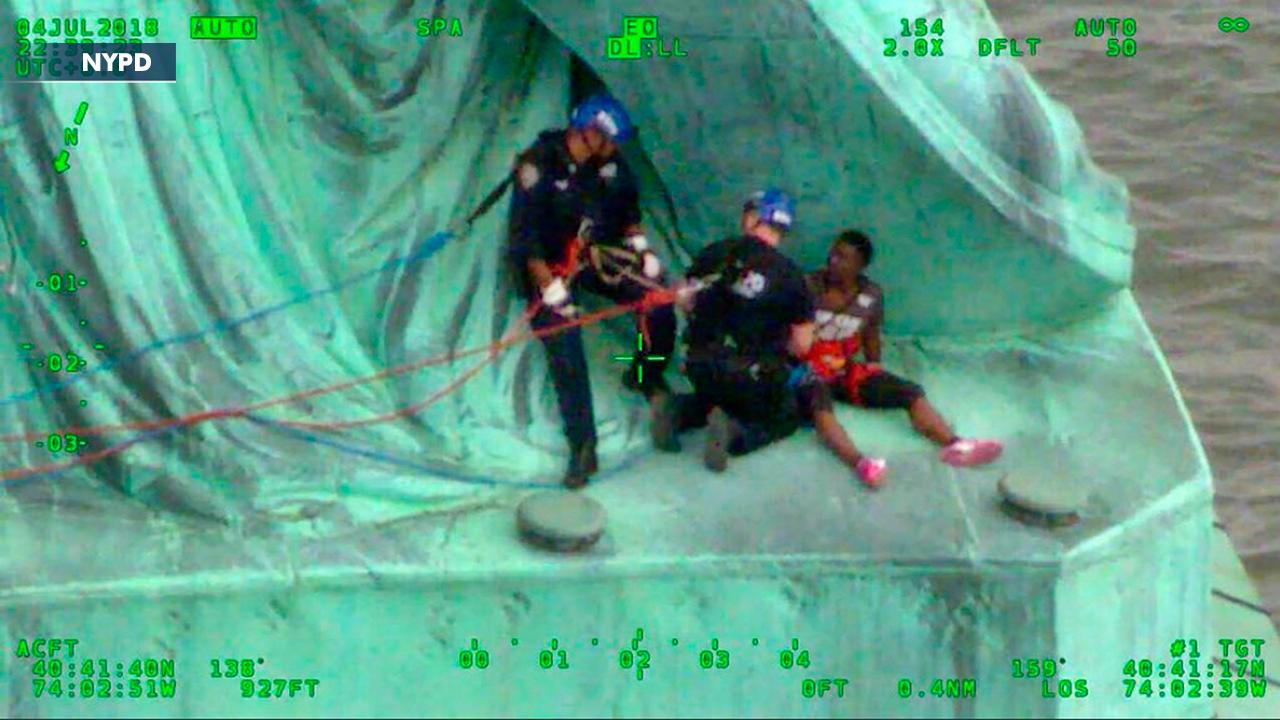 Statue of Liberty climber pleads not guilty