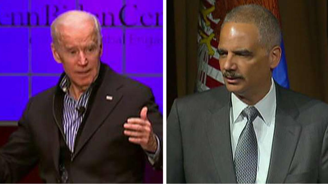 Eric Holder, Joe Biden considering 2020 presidential run